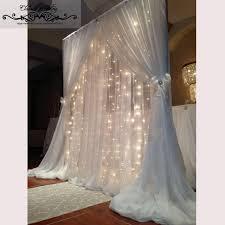wedding backdrop outdoor 1 pc free shipping 2 layers terylene backdrop clear outdoor