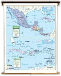 Caribbean Maps by Primary Central America Mexico And Caribbean Political Classroom