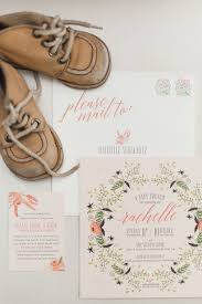 a modern botanical baby shower invitation suite shower