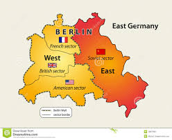 Map Of Berlin Germany by Divided Berlin Stock Image Image 18070951