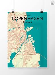 Copenhagen Map Copenhagen City Map Poster By Ourposter Com