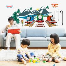 popular thomas train decorations buy cheap thomas train glow thomas train vinyl wall stickers for kids rooms children home decor sofa living wall decal