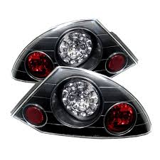 amazon com spyder auto mitsubishi eclipse black led tail light