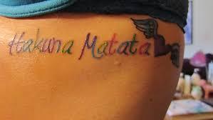 lion king hakuna matata tattoo
