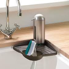 amazon com umbra cove sink corner shelf smoke home u0026 kitchen