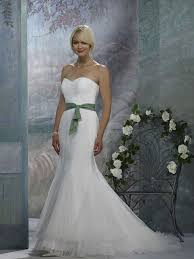 wedding dresses with sash ribbon charming strapless sash ribbon mermaid organza satin