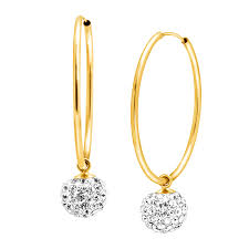 drop hoop earrings drop hoop earrings in 14k gold drop