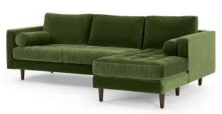 canape d angle 4 places canapé d angle 4 places avec méridienne à droite velours