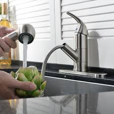 Hands Free Kitchen Faucet Ufaucet Commercial Stainless Steel Single Lever Single Handle Pull