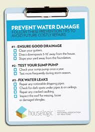 how to prevent water damage houselogic maintenance tips