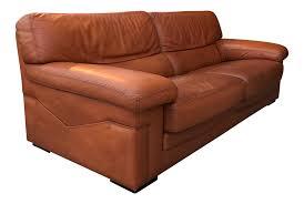 vintage roche bobois leather sofa chairish
