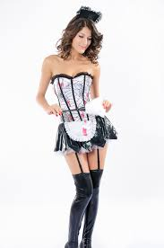 French Maid Halloween Costumes Bloody Zombie French Maid Costume Women