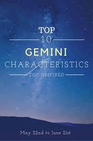 top 10 gemini characteristics top inspired
