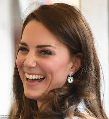 kate middleton diamond earrings duchess kate in the blue topaz and diamond earrings again