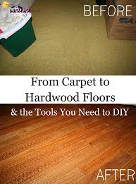from carpet to hardwood