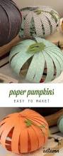 easy patterned paper pumpkins kids can do it paper strips
