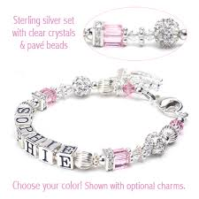 children s bracelets the princess name bracelet for babies and children with cube