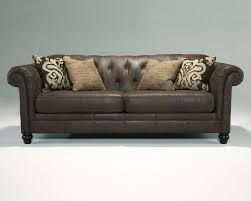 longdon place espresso faux leather sofa the classy home