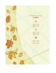 thanksgiving dinner menu formal office templates