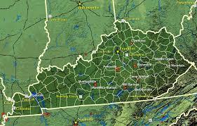 kentucky map civil war in kentucky