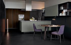Contemporary Kitchen Contemporary Kitchen Wood Veneer Lacquered Alea By Paolo
