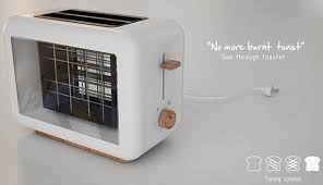 designer toaster toaster has transparent panels on the side daily mail