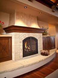 beige tile fireplace base ideas and grey stone fireplace also