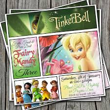 tinkerbell party invitations printable features party dress