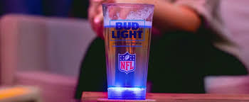 bud light touchdown glass app bud light s new light up glass encourages fans to be more hungover