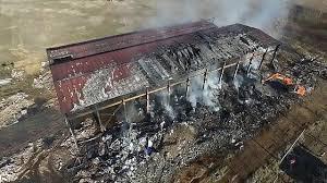 cerco capannone capannone a fuoco nel pavese arpa diossine oltre la soglia il