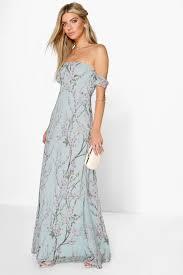 boohoo clothes boohoo womens floral the shoulder maxi dress ebay