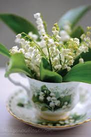 of the valley bouquet of the valley bouquet in teacup
