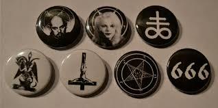666 satan baphomet pentagram anton lavey church of satan pins