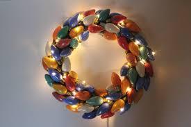 eat sleep make vintage christmas lights wreath diy