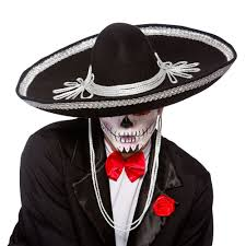 cowboy hat halloween day of the dead mariachi band hat fancy dress mexican spanish