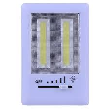 dual high light cob slide switch home wall kids room bathroom