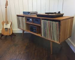 Mid Century Record Cabinet new mid century modern record player console turntable