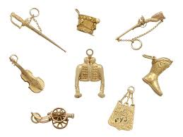 gold bracelet charms images Antique french 18ct and 21ct yellow gold bracelet charms jpg