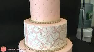 pink damask wedding cake youtube