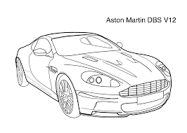 super car aston martin dbs v12 coloring page for kids 4 printable