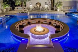 fire pit with seating fire pit inserts firepit insert in custom lounging area inside pool