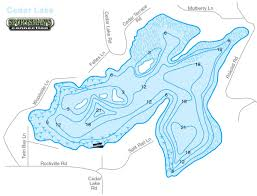 Map Of Michigan Lakes Cedar Lake U2013 Manitowoc County Lakes Association