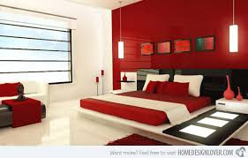 black and red master bedroom interior design