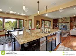 luxury kitchen with bar style island stock photo image 57714727