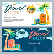travel voucher images Vector gift travel voucher template tropical island landscape jpg