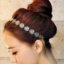 hair bands online hollow flower elastic headbands jewellery hair bands
