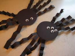 halloween paper spider decorations
