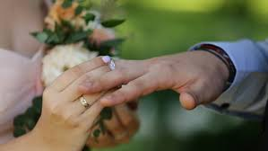 marriage ring putting wedding ring on groom s finger at