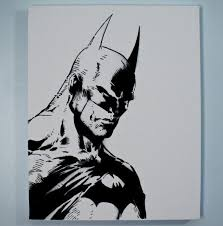black and white painting ideas drawn painting batman pencil and in color drawn painting batman
