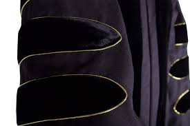 black graduation cap and gown premium black phd cap gown regalia rental set